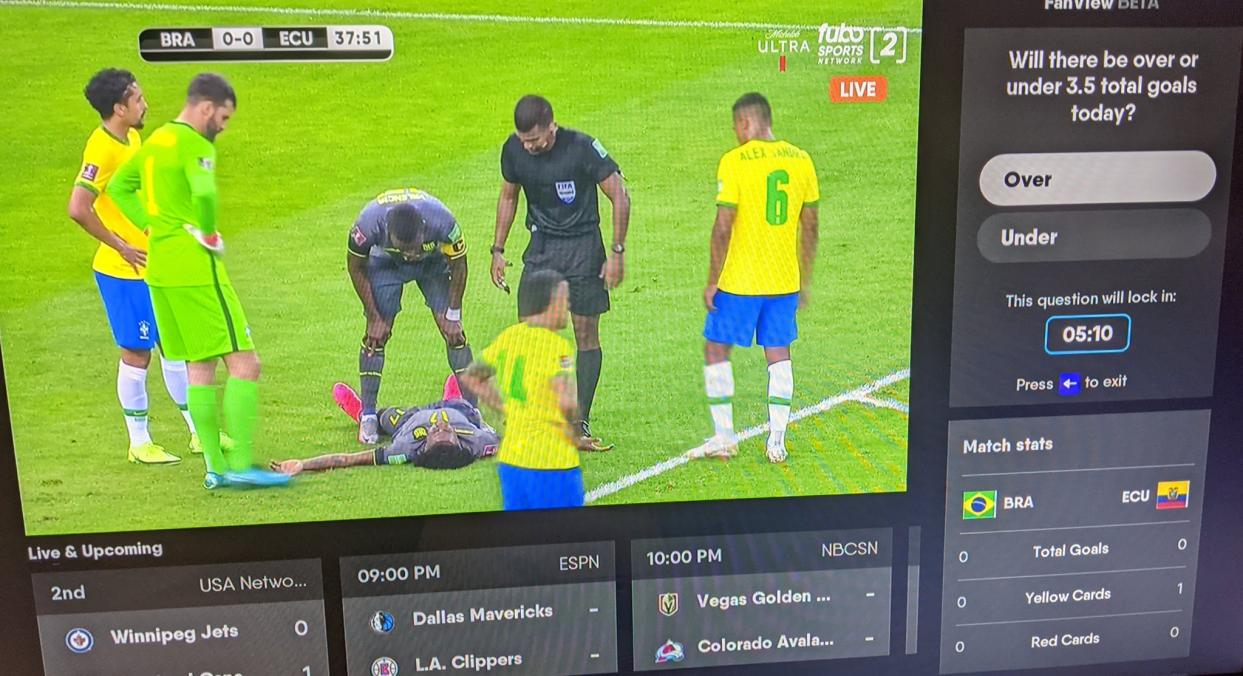 fuboTV Games and Stats
